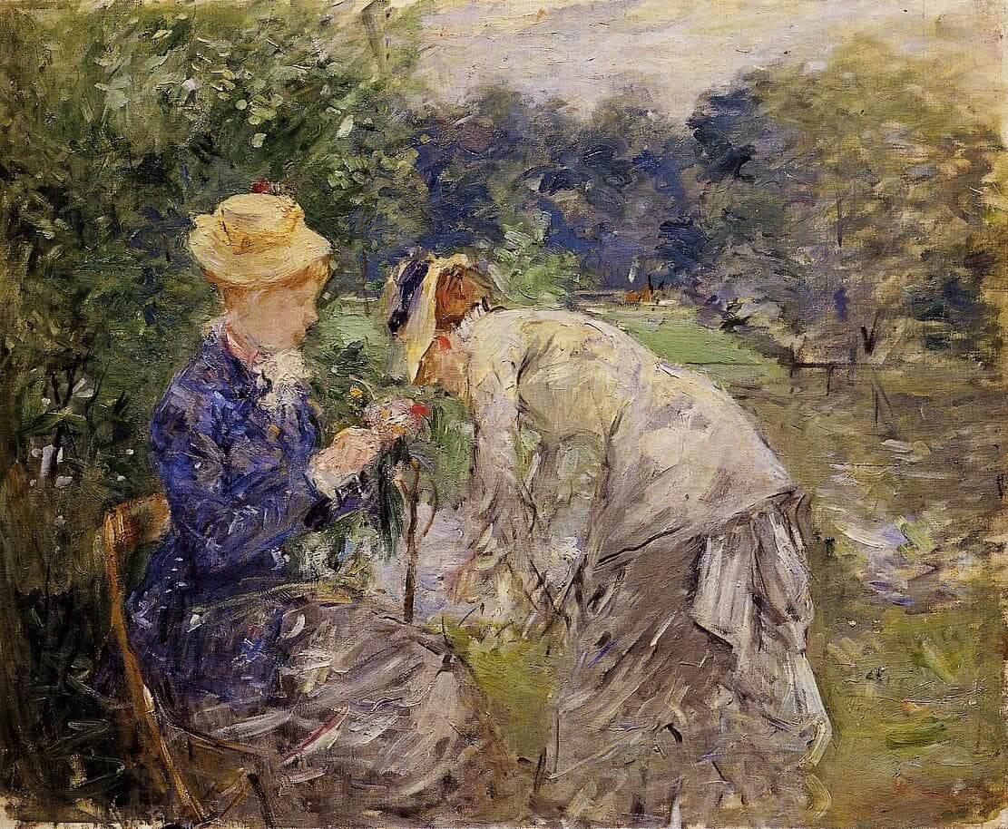 «Dans le bois de Boulogne» par Berthe Morisot